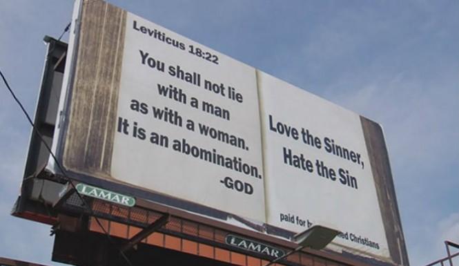 Same sex marriage a sin